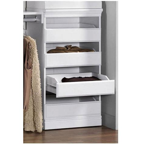 closet storage drawers wood home decorators collection manhattan 40 in h modular