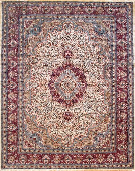 silk rug kashmir medallion beige purple silk rug 11006