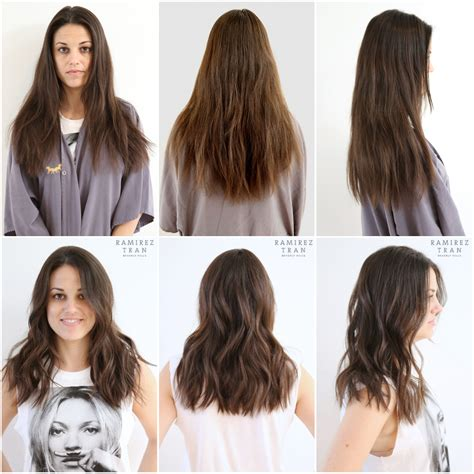before and after medium layered haircuts before and after layered haircut hairstyles pinterest
