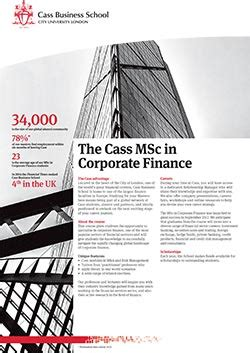 Cass Mba Ranked For Finance by Corporate Finance Cass Business School