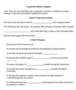 Bylaws Template by Church Bylaws Sle Pdf