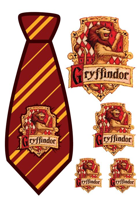 harry potter tie template elemonade harry potter gryffindor tie print out