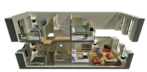 home design 3d two story modern 3d 2 story floor plans on apartments with 2 story