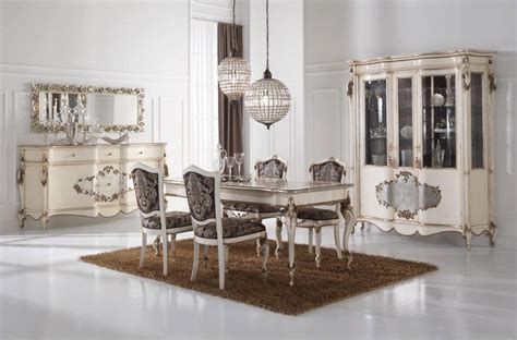 silver dining room 187 silver leaf dining room furnituretop and best italian classic furniture