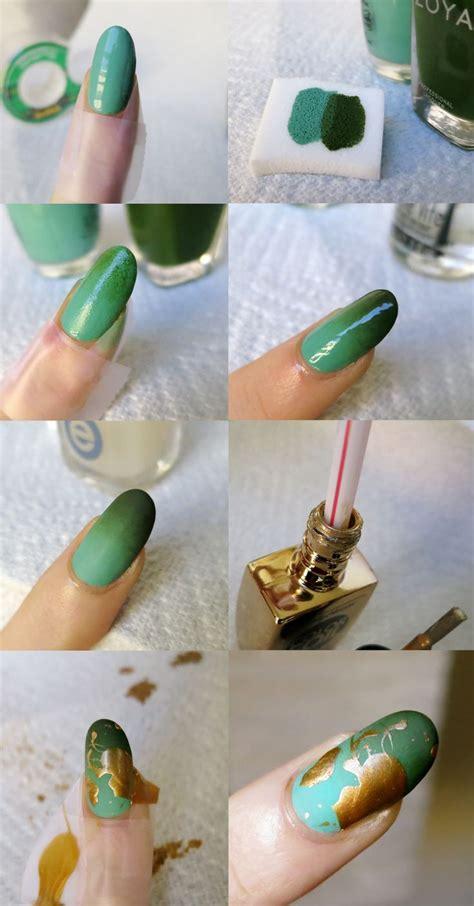 video tutorial 95 nail art ombr verde smeraldo e bianca con effetto matte gradient gold splatter tutorial thanks for all the