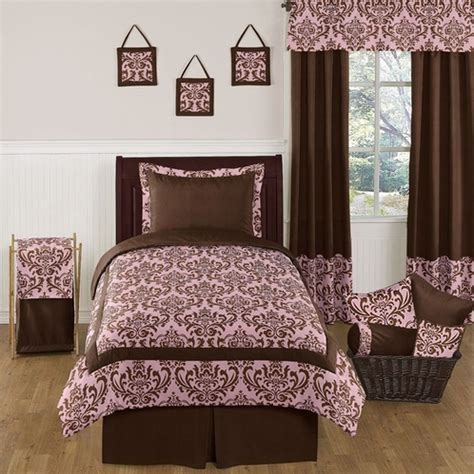 pink and brown bedding pink and chocolate nicole childrens and teen bedding set