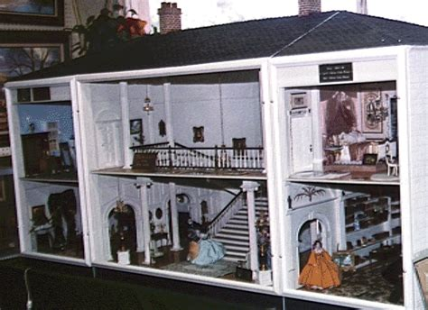 the one with the doll house the gone with the wind mansion dollhouse is a unique one of a kind dollhouse it is