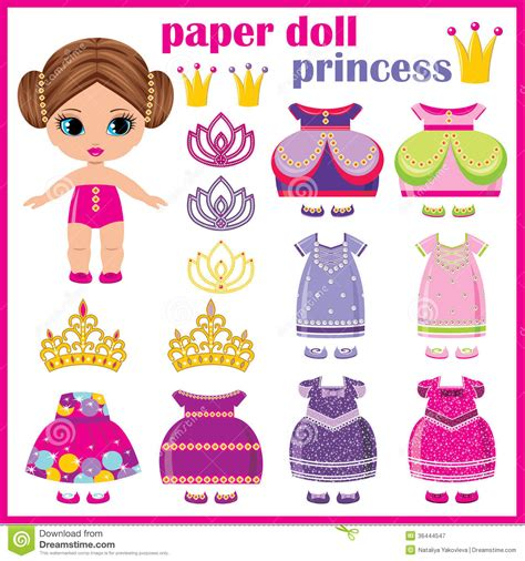7 best images of printable princess paper doll clothes