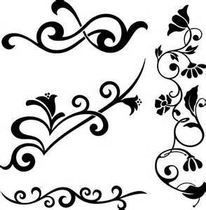 Big Pictures Of Flowers - clipart floral flourish elements