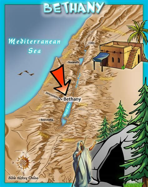 bethany jerusalem map bethany where lazarus was raised from the dead and where