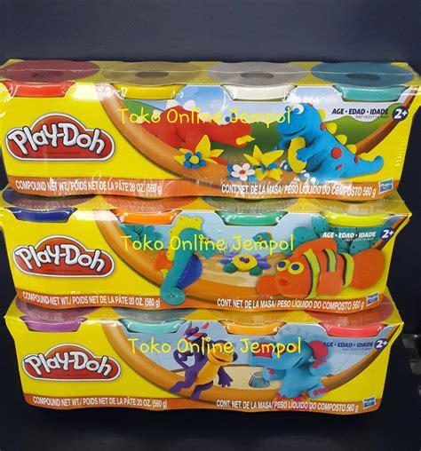 Wrap Utk Keamanan Barang Anda jual 1set4pot lilin play doh original 560gr playdoh dough
