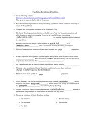 lab bench activity lab bench activity and worksheet population genetics and