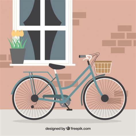 bici da casa fondo de bici con cesta en frente de una bonita casa