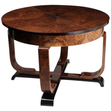 deco dining table with leaf for sale at 1stdibs