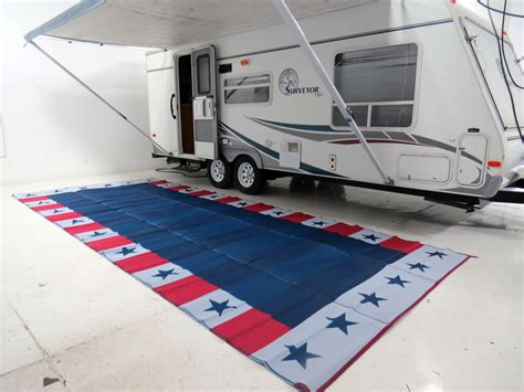 Rv Awning Mats 8 X 20 by Faulkner Rv Mat Independence Day White And Blue