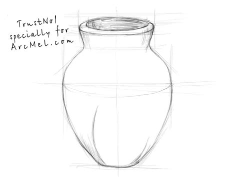 Vase Drawing For by How To Draw A Vase Step By Step Arcmel
