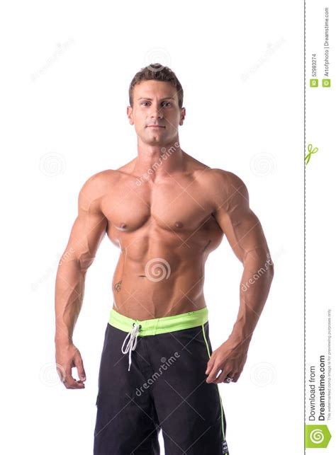 muscular man 31401 muscular young bodybuilder in relaxed pose stock photo