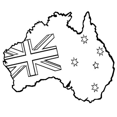 australian flag template to colour australia coloring page coloring book