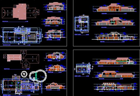business center  dwg design elevation  autocad