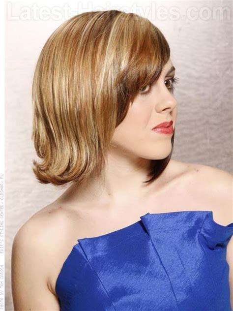 can hair be angled away from the face angled away from face hairstyles celebrity long angled