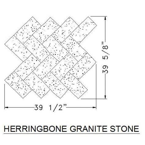 cad block stone pattern herringbone granite stone cad hatch download