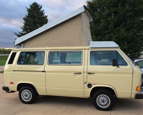 volkswagen vanagon 1983 5 vw vanagon westfalia cer w 48k miles auction