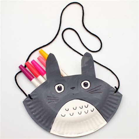 Paper Purse Craft - 3 totoro crafts pink stripey socks