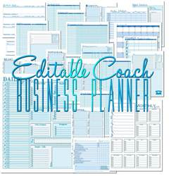 Business Planer by Edit Able Coach Business Planner To Insanity Back