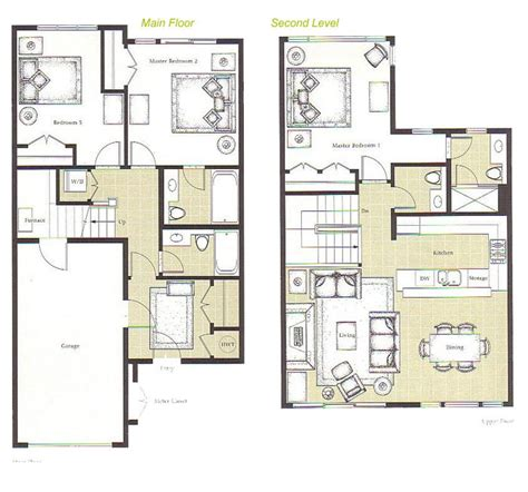 double decker bus floor plan home plans with 2 master bedrooms downstairs