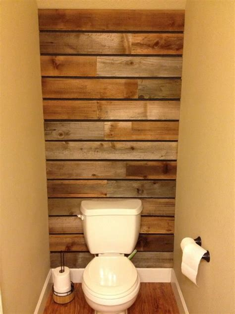 Pallet Wall Bathroom Wood Pallet Wall Thanks To My Husband Beautiful Bathing Rooms Pinterest Stains To My
