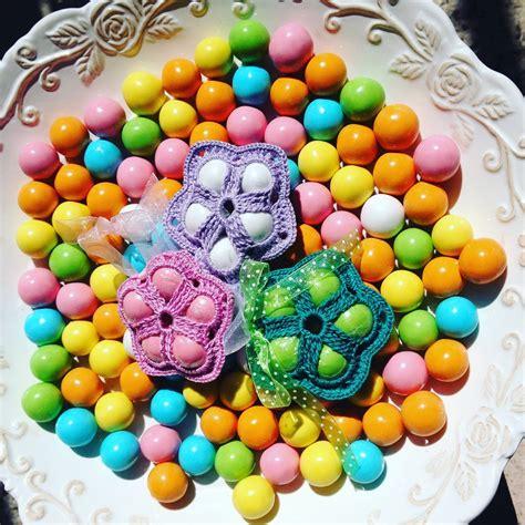 confetti fiore fiore porta confetti a uncinetto feste bomboniere di