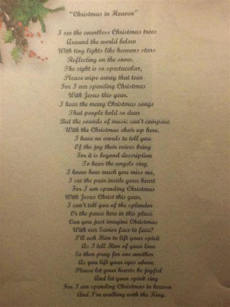 printable christmas in heaven poem christmas in heaven poem good words pinterest