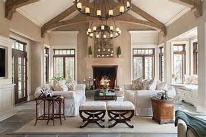 Pottery Barn Candle Chandelier Traditional Living Room With Window Seat Amp French Doors