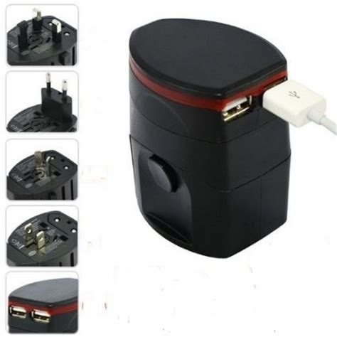 Loop Universal Travel Adapter 4 In 1 Us Uk Eu Au With Usb Port universal travel adapter 4 in 1 eu uk usa with 1a usb port black jakartanotebook