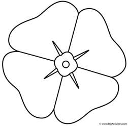 poppy template printable poppy coloring page remembrance day