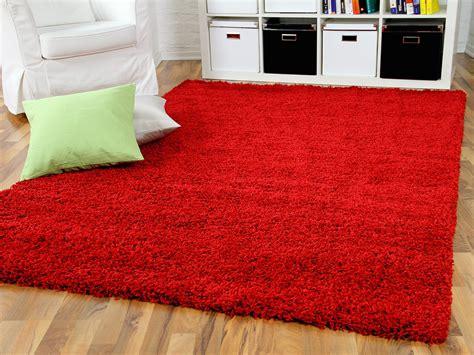 langflor teppich rot hochflor langflor shaggy teppich aloha rot teppiche