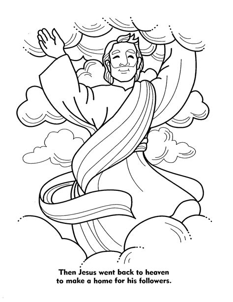 sunday school coloring pages jesus ascension jesus coloring pictures children bible coloring pages