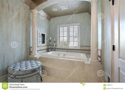Living Room Furniture Floor Plans master bath with tub columns stock image image 12662711