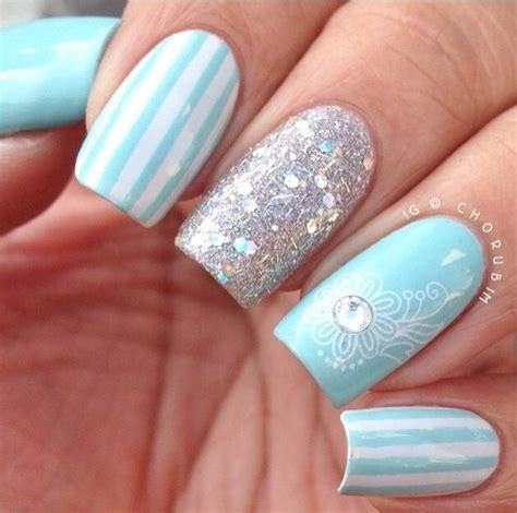 Light Blue Nail