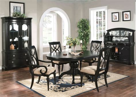 Black Dining Room Set With Bench by Formal Dining Sets