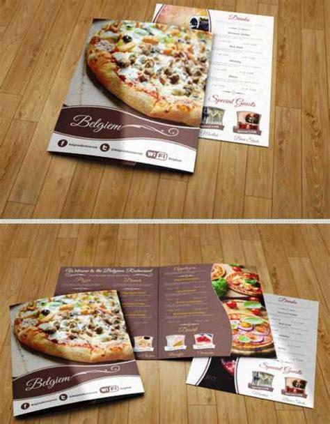 desain brosur cafe 30 desain brosur restoran untuk promosi dan