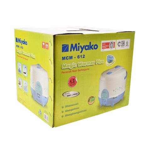 Miyako Mcm 18 Bh Rice Cooker 1 8 L miyako mcm 612 rice cookermagic magic jar garansi