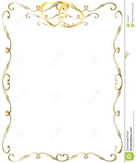 Wedding Anniversary Border Invitation Stock Image   Image