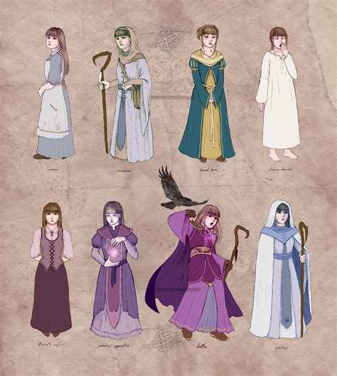 fashion design apprenticeships mage cleric outfits rowena ref sheet by ithilloth on