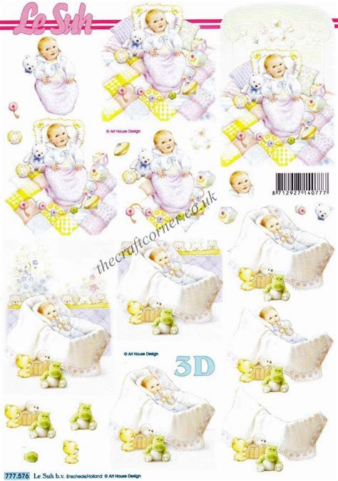 baby boy with toys 3d decoupage sheet