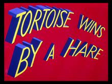 looney tunes title card template tortoise wins by a hare