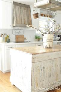 farmhouse island kitchen 28 vintage wooden kitchen island designs digsdigs