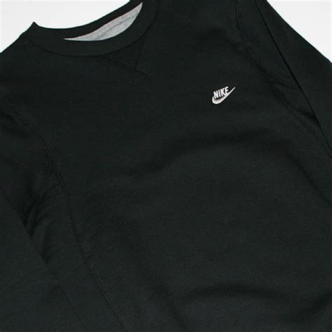 Sweter Grlt Logo Black Gj114 nike brushed crew fleece sweater black 259331 010 purchaze