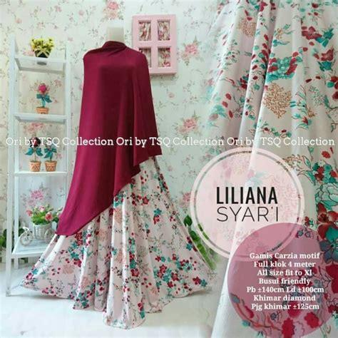 St Kulot Bunga Cantik Tosca baju gamis liliana syar i motif bunga cantik busana muslim