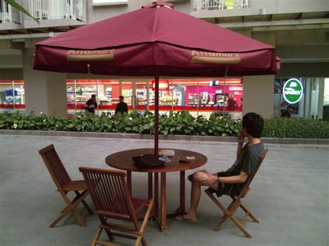 Meja Payung Cafe Outdoor Murah jual meja payung cafe umbrella table set tirta jati